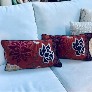 Set of two pillow covers (stuffers not included)